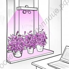 """Светильник светодиодный для досветки растений на подоконнике """"Спика"""""""