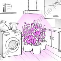 """Светильник светодиодный для растений с регулируемым спектром """"Зубен"""" 120Вт"""
