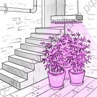 """Мощный светодиодный светильник-фитопанель для гроубоксов, тепличек, зимних садов """"Дубхе"""" 500Вт"""