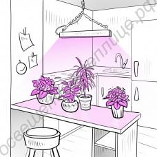 """Биколорная лампа """"Денеб"""" для выращивания растений на мощных 10Вт красных и синих светодиодах"""
